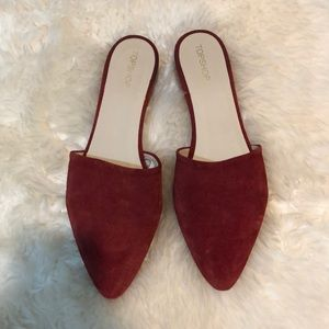 Suede topshop mules